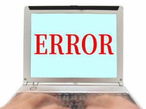 パソコンの障害の画像